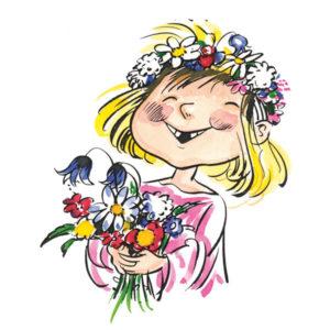 Jente med blomster - VÅR