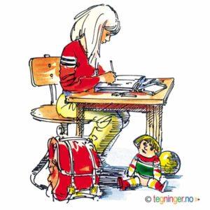 Jente på skolen – UTDANNING