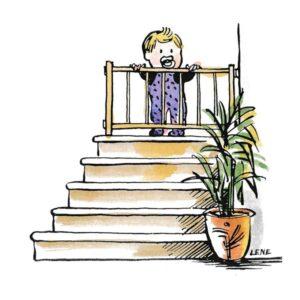 Barn og trapp - FAMILIE