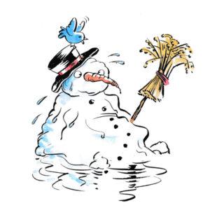 Snømann - VÅR