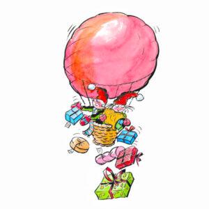 Nissebarn deler ut gaver - JUL