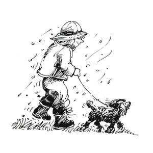 Barn går tur med hund - FAMILIE