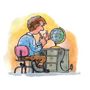 Elev med globus - UTDANNING
