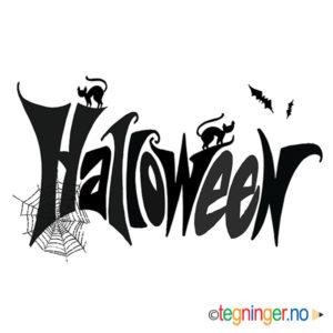 Halloween skrift 2 - HALLOWEEN