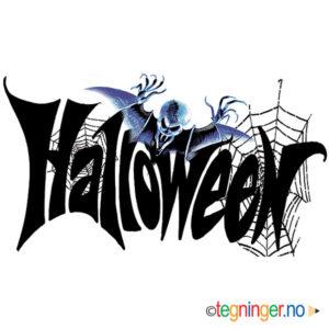 Halloween skrift 1 - HALLOWEEN