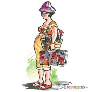 Dame på ferie – SOMMER