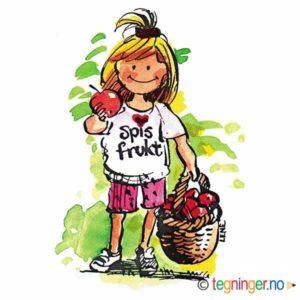 Jente med frukt – HØST
