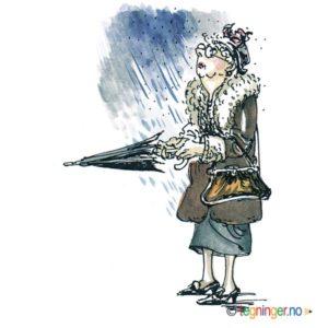 En gammel dame i regnet – MENNESKER