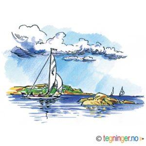 Seilbåt på Hvaler – SOMMER