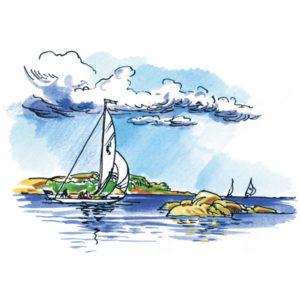 Seilbåt på Hvaler - SOMMER