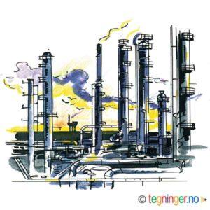 Oljeplattform - INDUSTRI