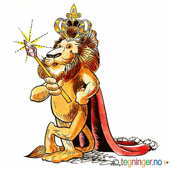 Løve med kongekrone - DYR