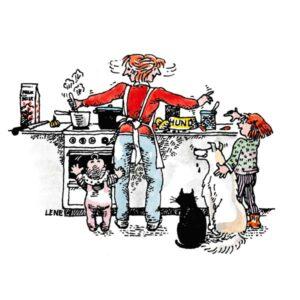 FAMILIE- Travelt på kjøkkenet