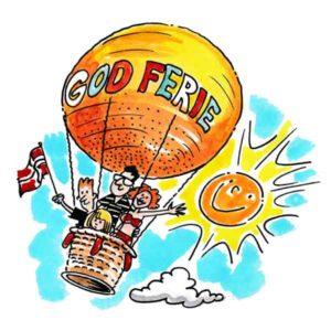 Familie i luftballong – FERIE