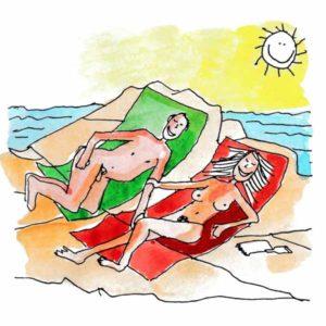 Naken på stranden – FRITID