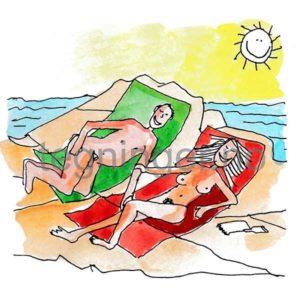 Naken på stranden - FRITID