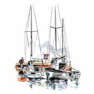Seilbåter i marina – FRITID
