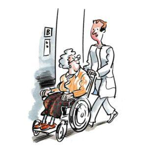 I rullestol på pleiehjemmet - HELSE