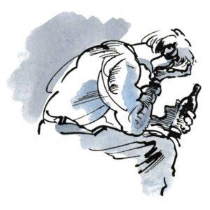 Ulykkelig mann med rusproblemer – HELSE