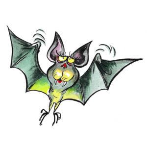 Grønn flaggermus - HALLOWEEN