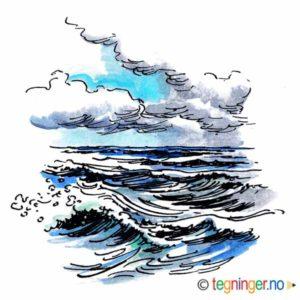 Hav med bølger – NATUR
