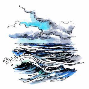 Hav med bølger - NATUR