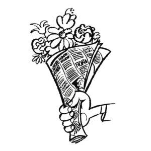 Blomster i avis - MEDIA