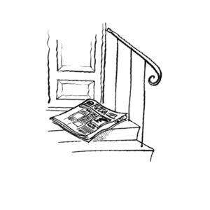 Avis levert på trappa - MEDIA