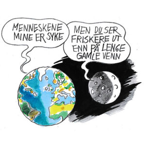 Jorda og månen - koronaviruset