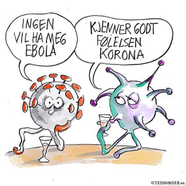 Korona og Ebola på bar