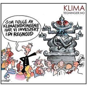 Regnguden - KLIMA TEGNINGER