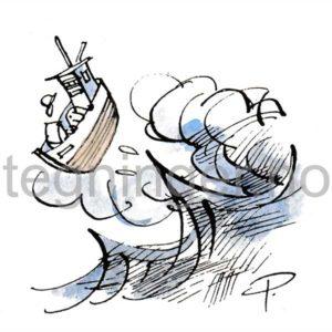 Fiskebåt i storm - KLIMA