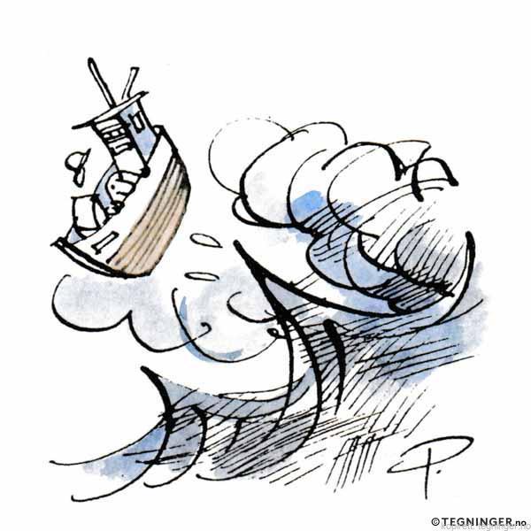 Fiskebåt i storm – KLIMA