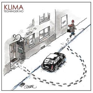 Gå til jobben - KLIMA TEGNINGER