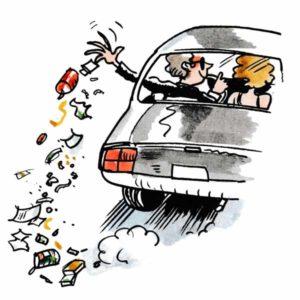 Kaste søppel fra bil - MILJØ