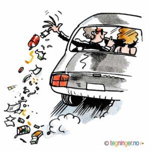 Søppel fra bil – MILJØ