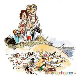 Søppel på stranda – MILJØ