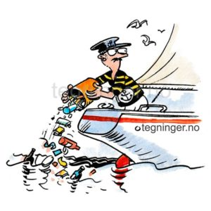 Miljøsynder kaster Søppel fra båt - MILJØ