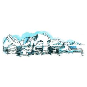 Polarlandskap med isfjell - NATUR