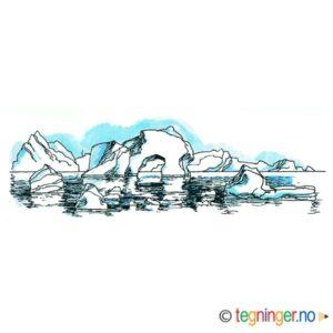 Polarlandskap med isfjell – NATUR