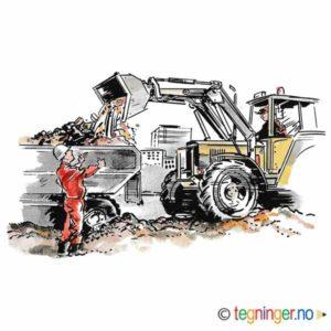 Anleggsarbeid med gravemaskin – SAMFUNN