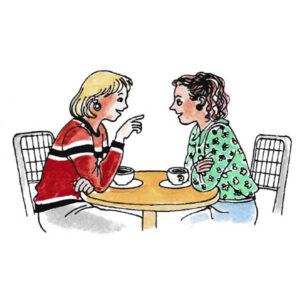 Venninner på kafè – SITUASJONER