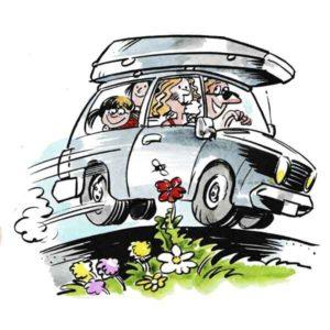 Familie på biltur – FERIE