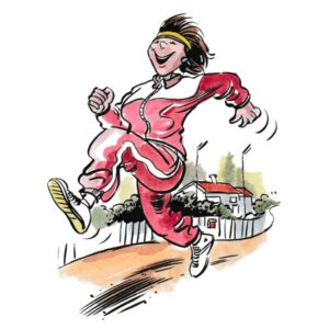 Dame på joggetur – SPORT