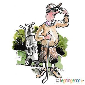 Halvfet amatør på golfbane – SPORT