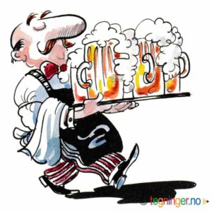 Servitør med ølkrus – YRKER