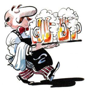 Servitør med ølkrus - YRKER