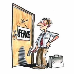 Ferie skilt på dør – FERIE