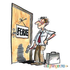 Ferie skilt på dør - FERIE