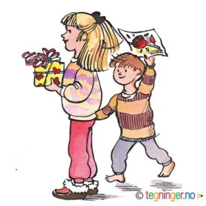 Barn med gave - BEGIVENHETER